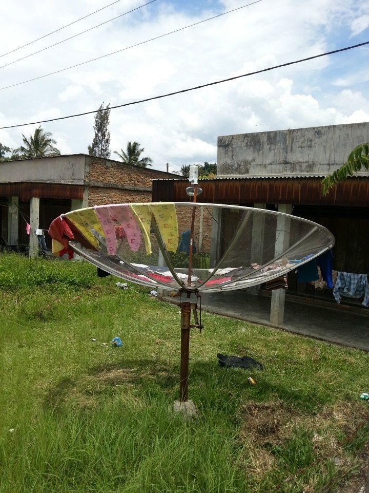 lake toba alternate use satellite dish