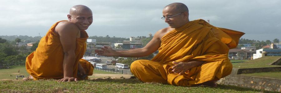 Sri Lankan Monks, Galle Fort