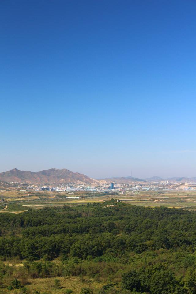 Kaesong Industrial Park from the Dora Observatory
