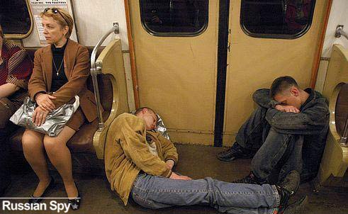 russian drunks train