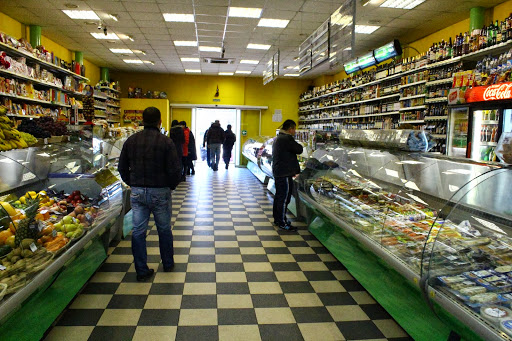 Shopping At A Russian Supermarket In Moscow The