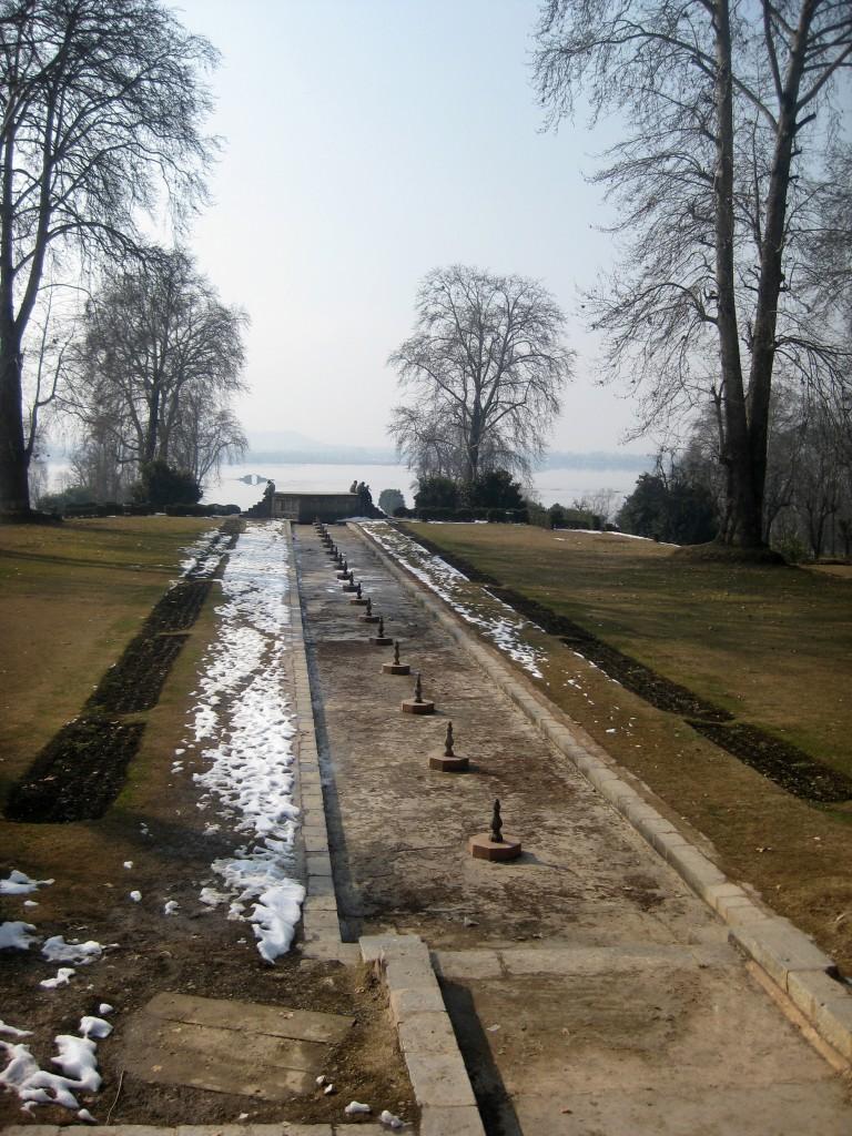 Nishat bagh fountain winter