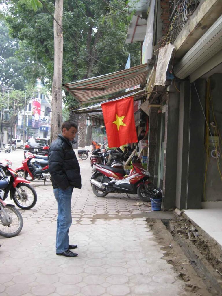 vietnamese flag hanoi