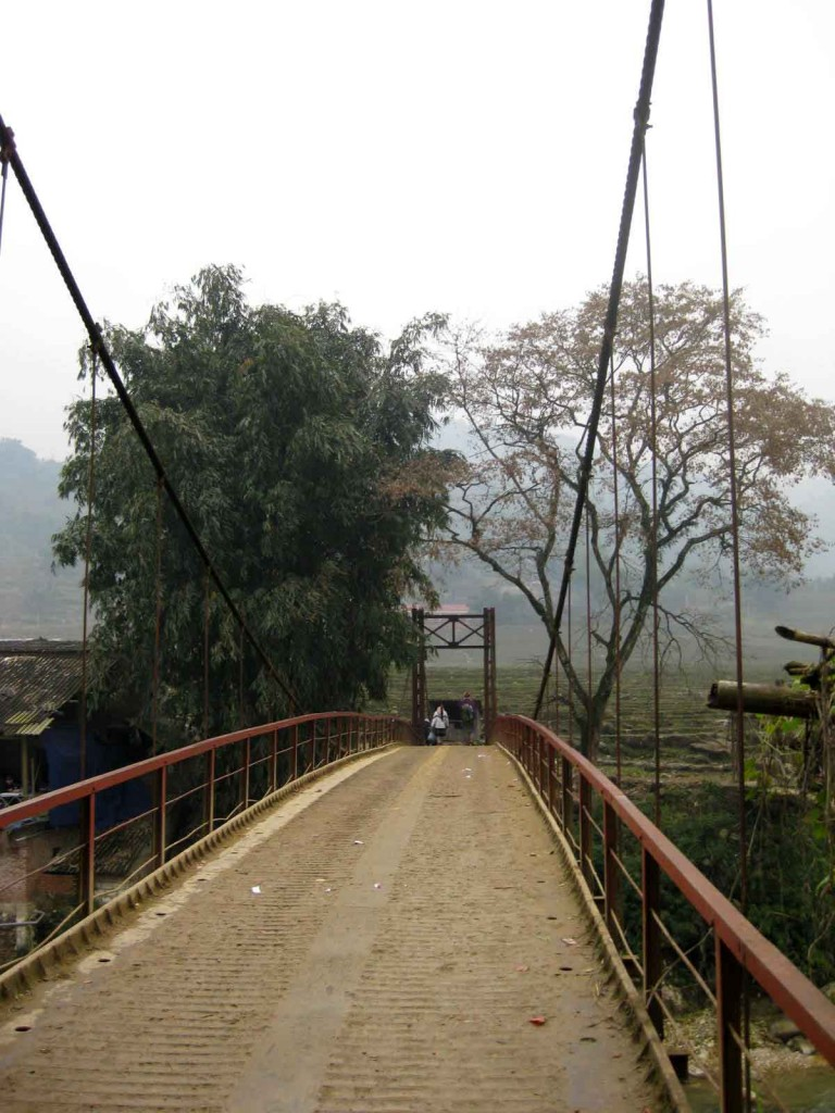 bridge to Sapa minority villages