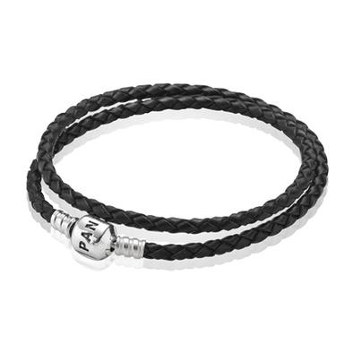 Men pandora pleated bracelet