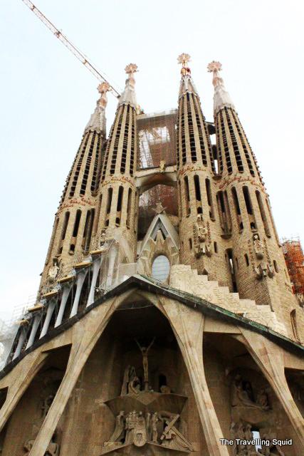 Nativity facade of sagrada familia