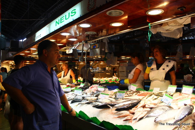 la boqueri barcelona fishmonger