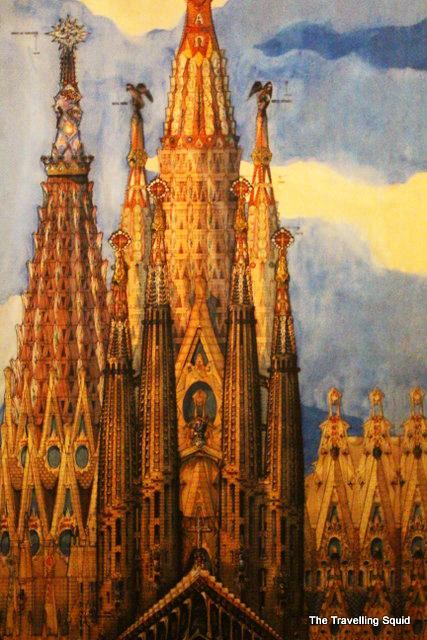 Painting La Sagrada Familia Watercolour The Travelling Squid