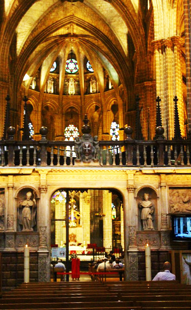 Barcelona Cathedral service