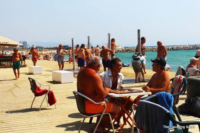 barceloneta beach chess