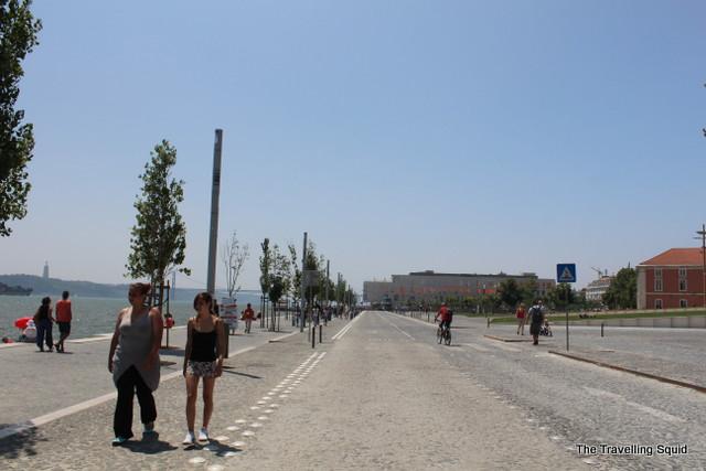 broadwalk lisbon tagus river