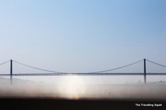 Cacilhas lisbon ferry 25 de abril bridge