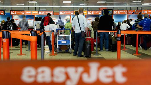 easyjet airport queues toiletries
