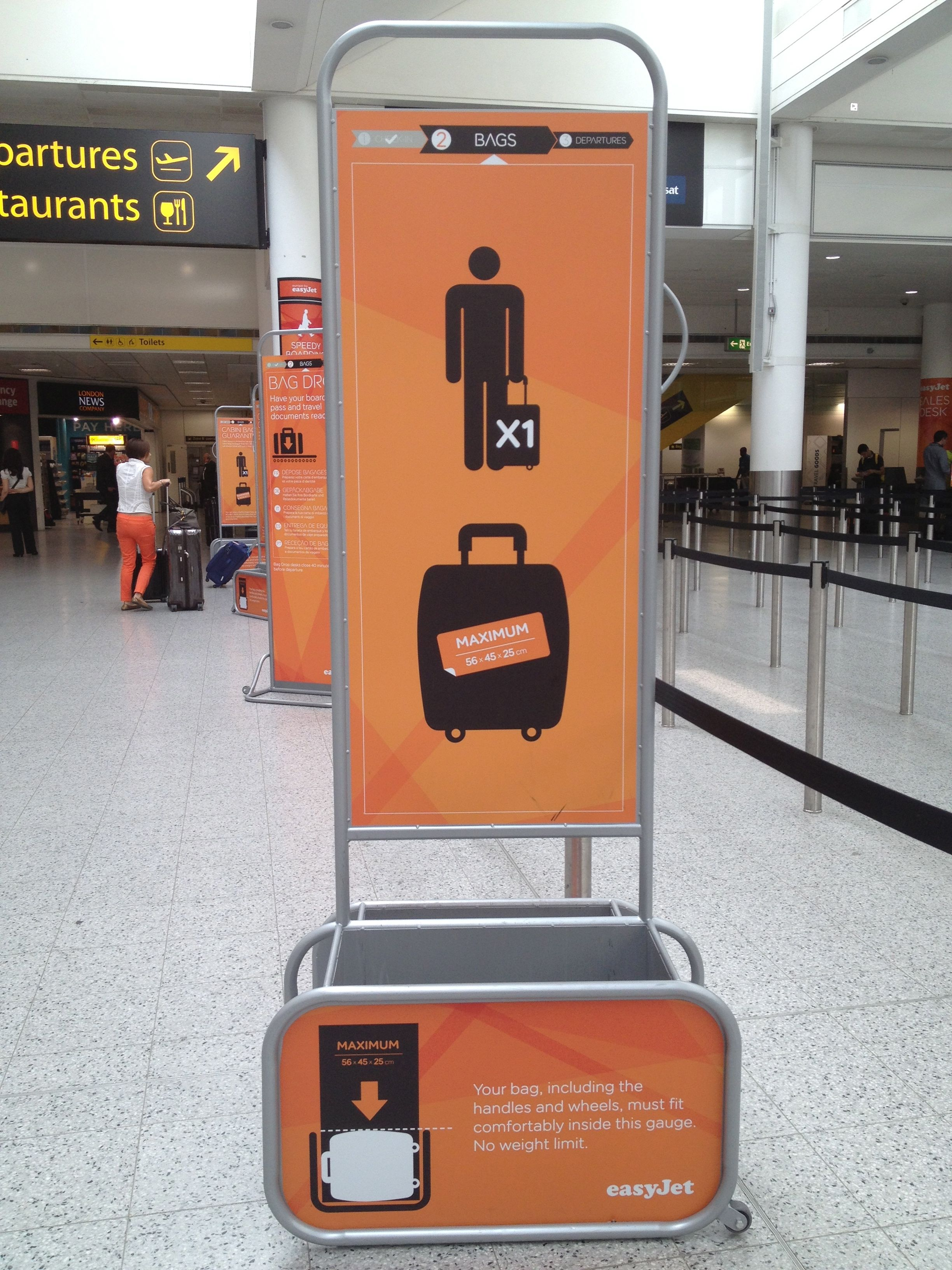easyjet baggage allowance sizes