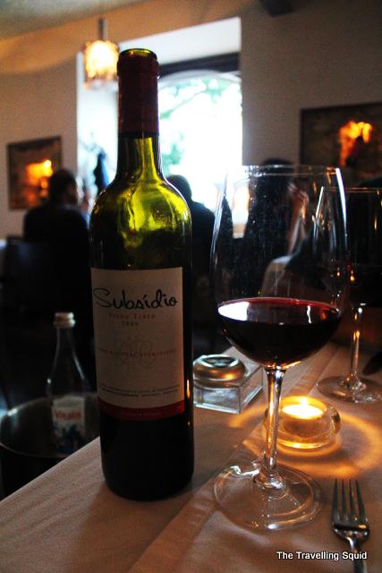 subsido vino tinto restaurante Frade dos Mares lisbon