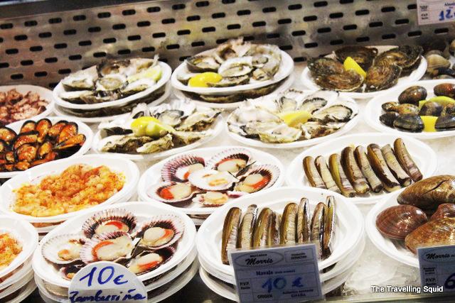 Mercado San Miguel seafood