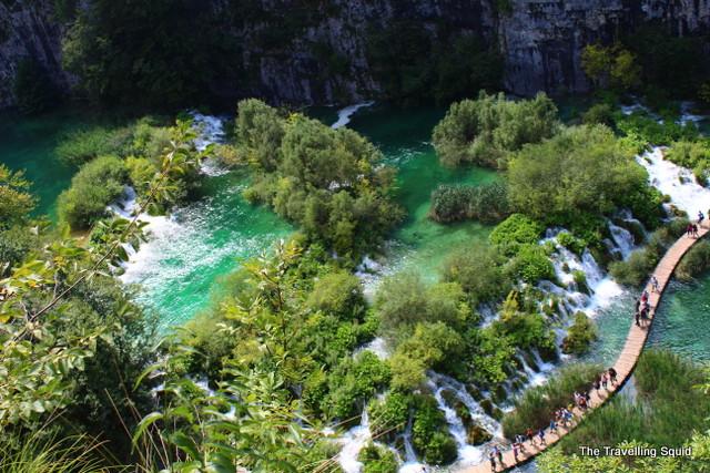 Velike Kaskade plitvice lakes.