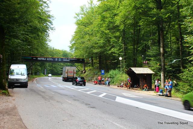 Plitvice lakes buses split road