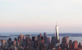 Manhattan skyline freedom tower