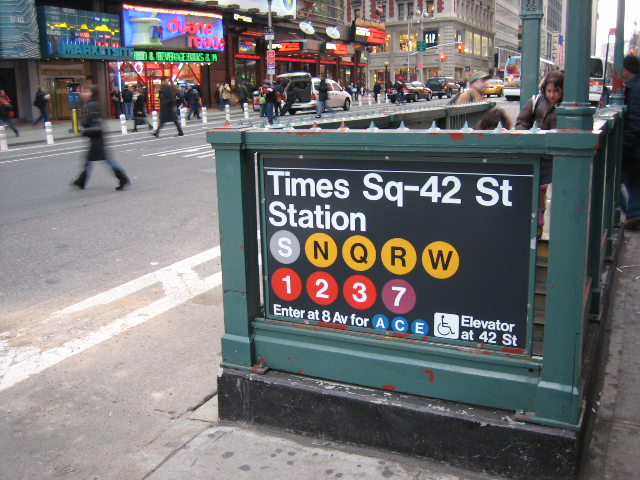 new york subway times square
