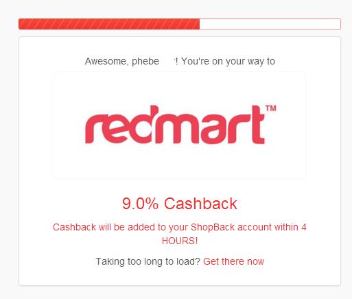 shopback cashback redmart