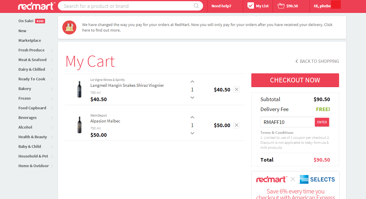shopback redmart user friendly