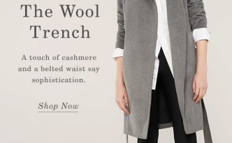 everlane trench coat travel