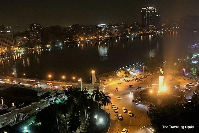 cairo zamalek traffic intersection night novotel