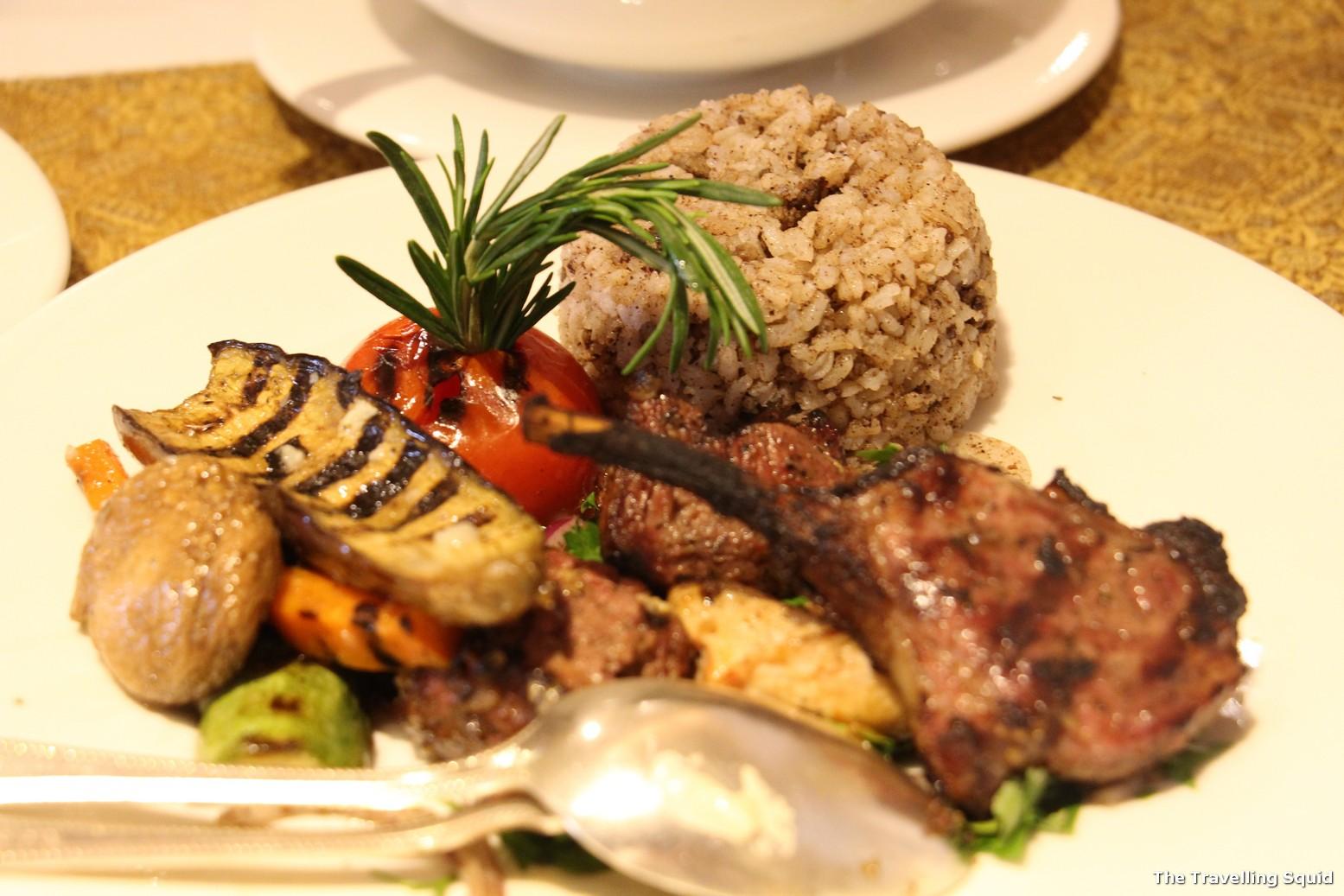 sabaya intercontinental cairo lebanese grilled platter