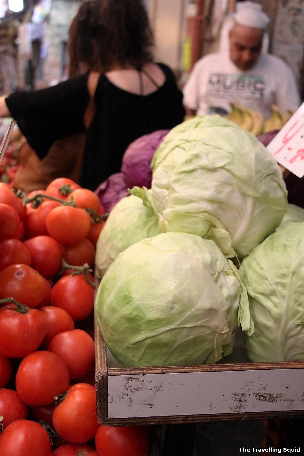 cabbage Mahane Yehuda market