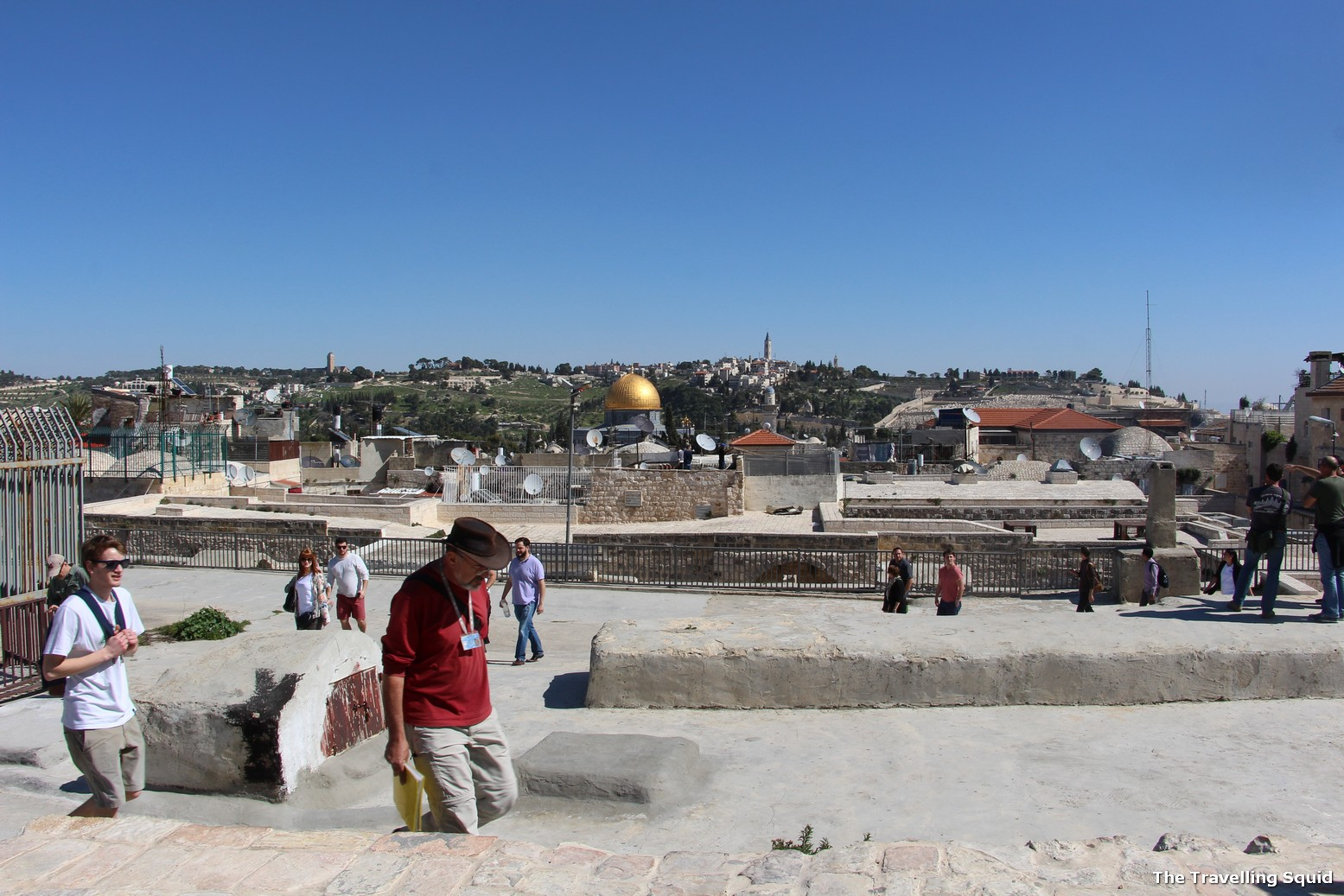 Temple Mount in Jerusalem as a tourist