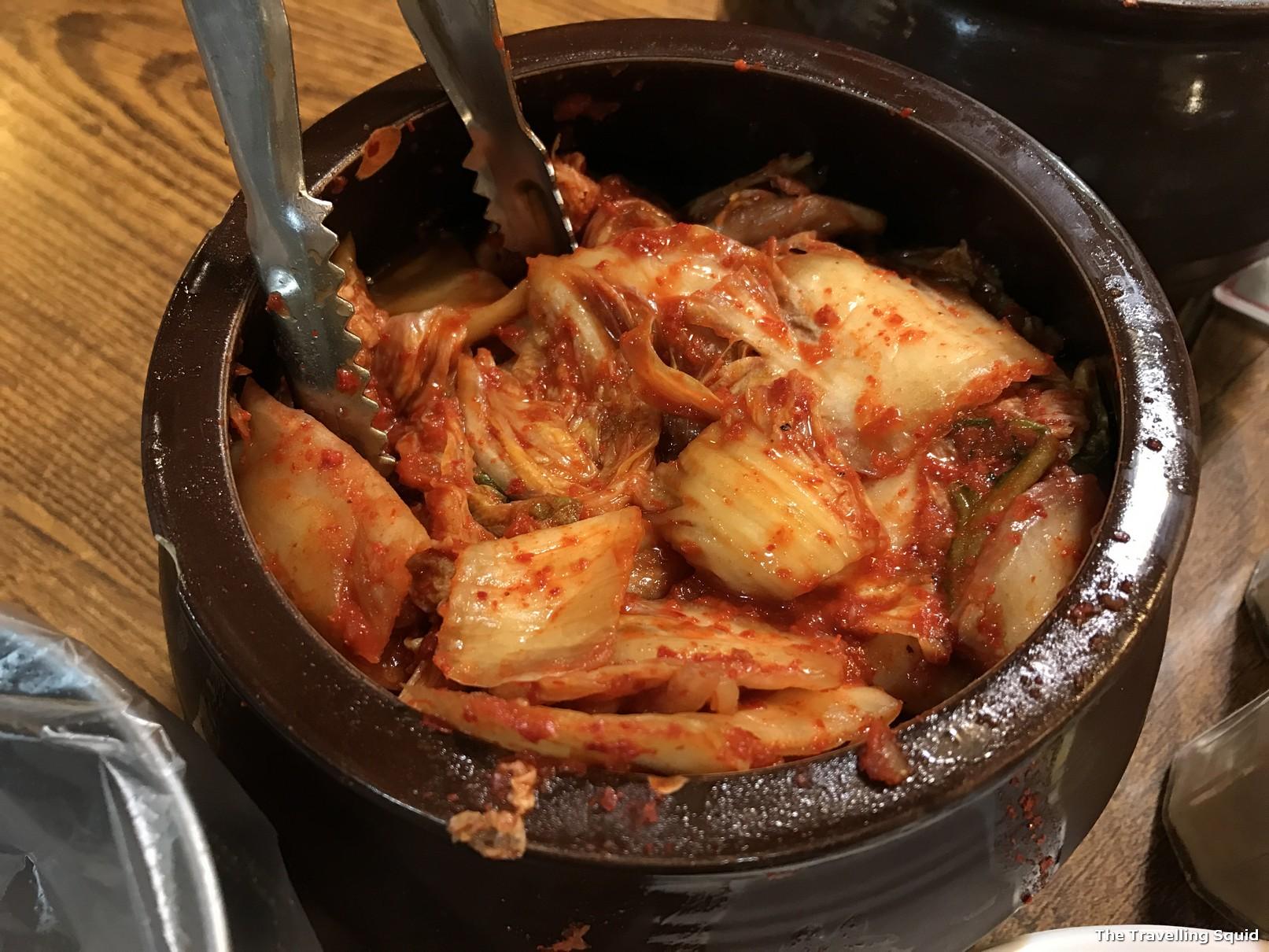 Tosokchon Samgyetang kimchi