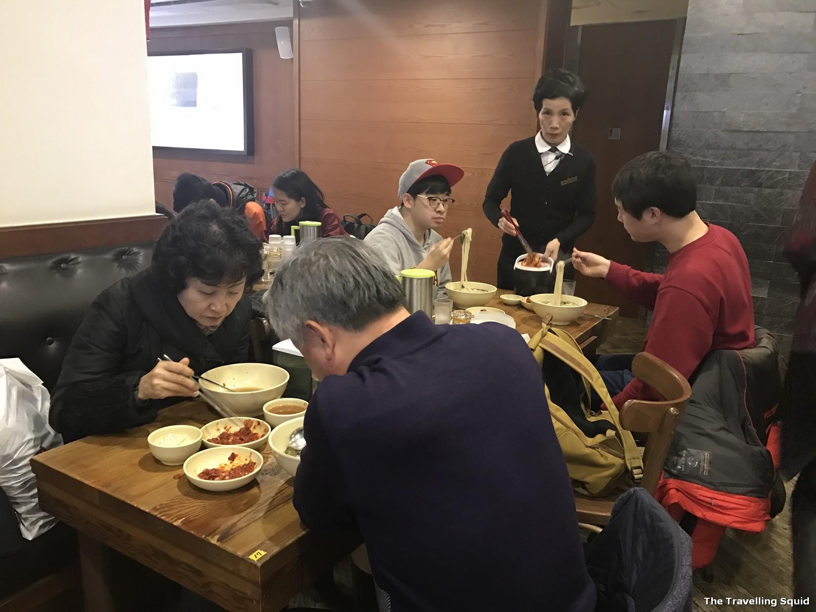 Best soup noodles atMyeongdong Kyoja