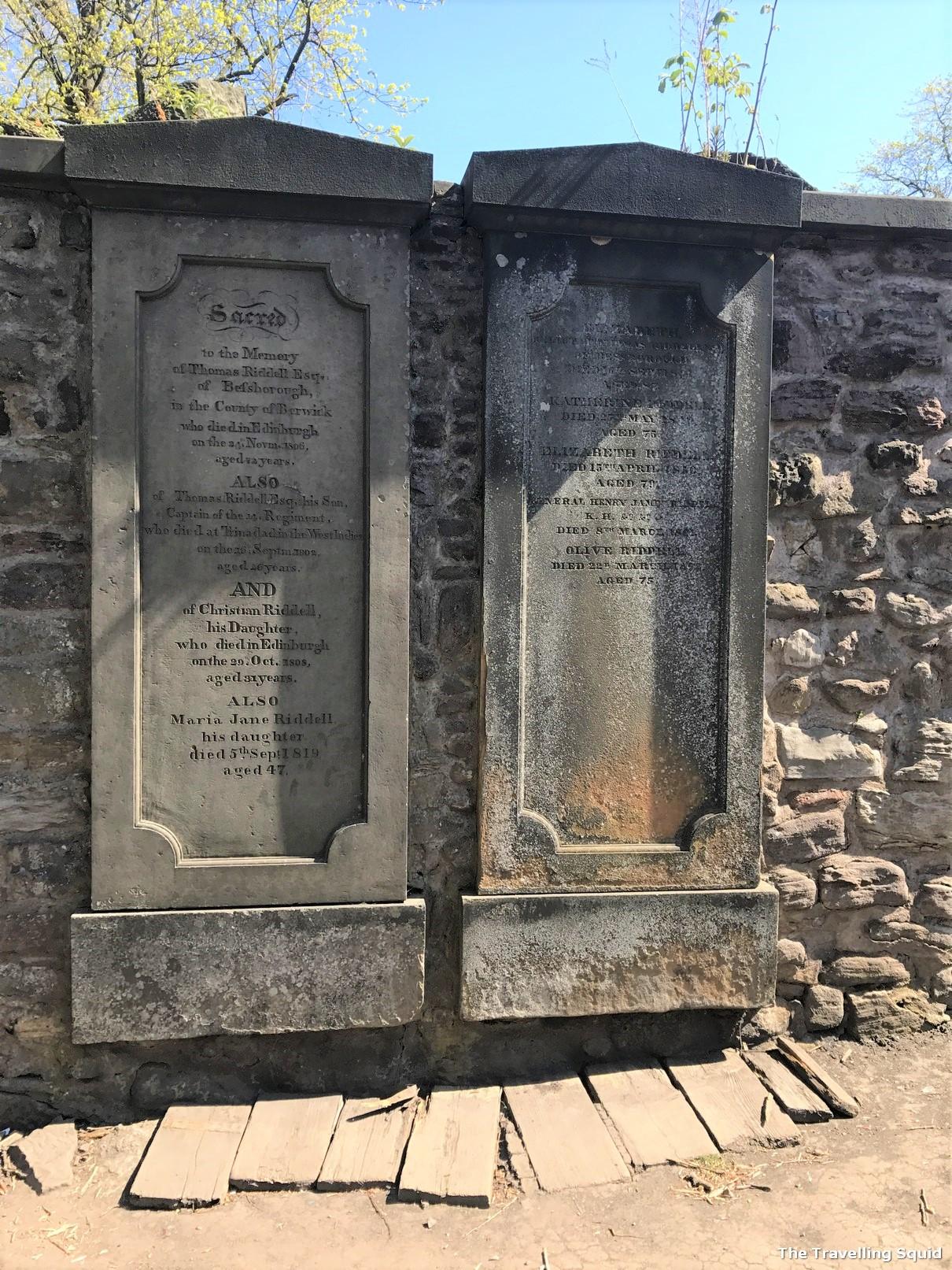 Greyfriars Kirkyard edinburgh graveyard tom riddle