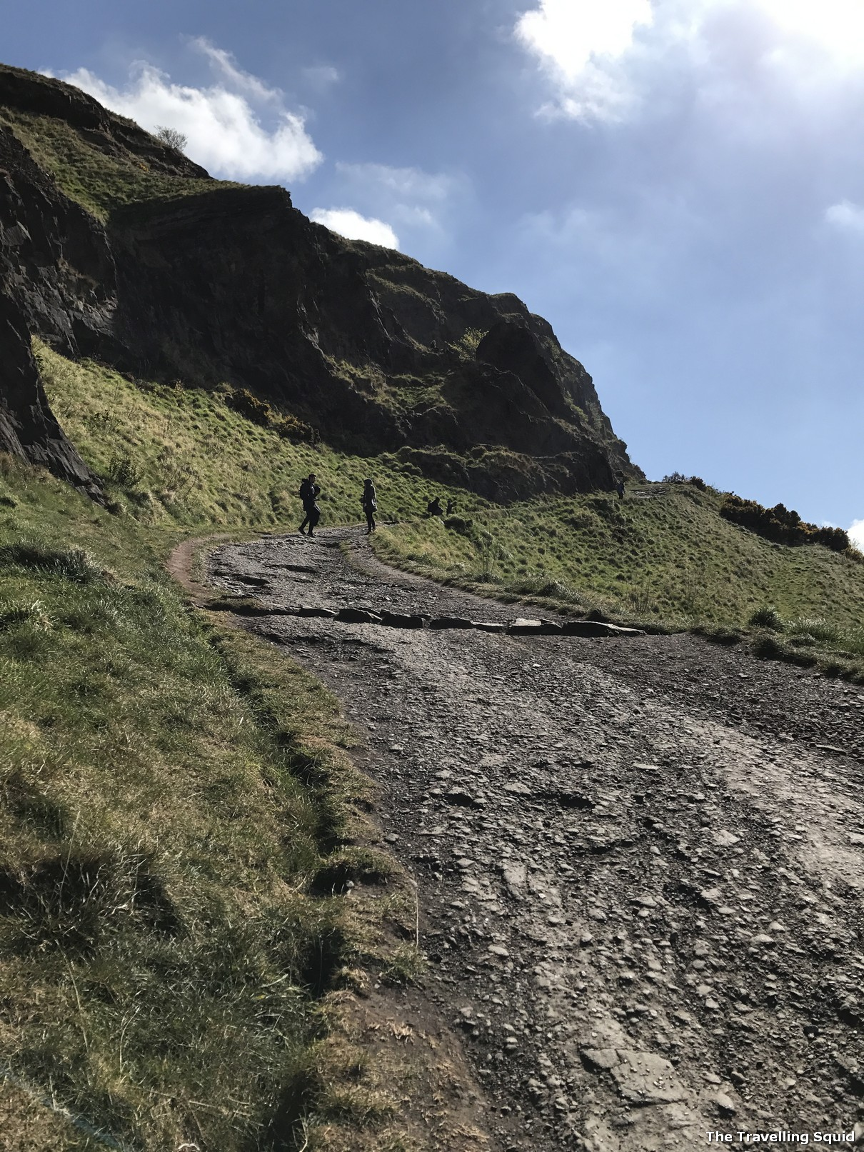 challenging hiking route to the peak of Arthur Seat