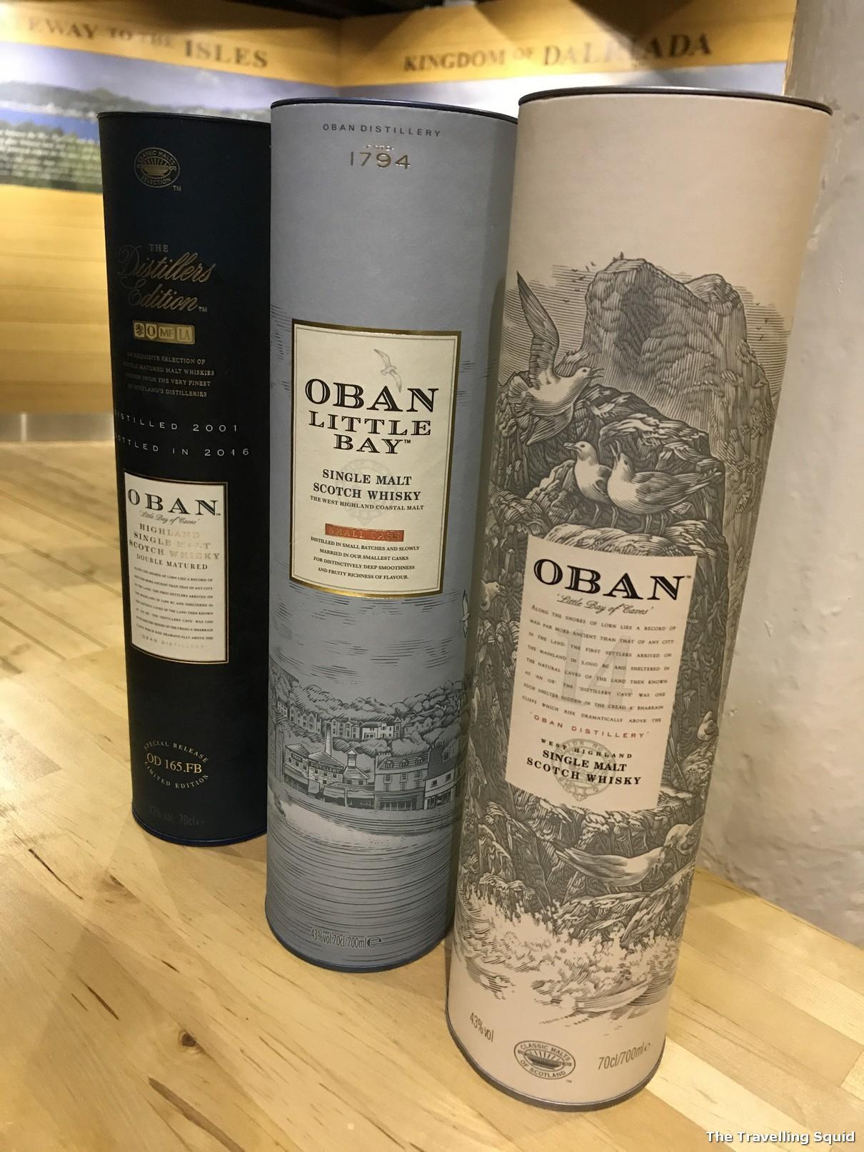 oban whisky varieties little bay