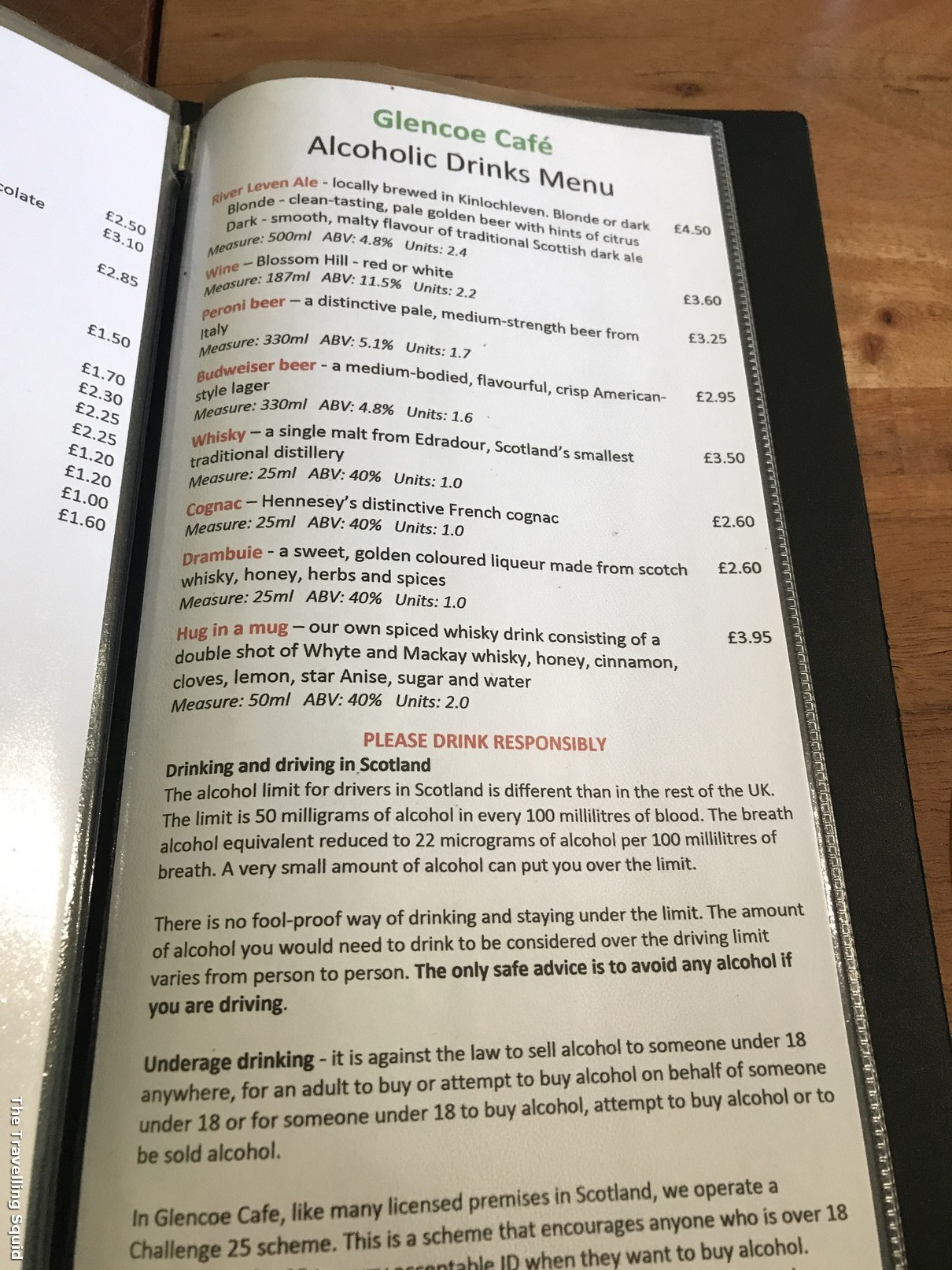 glencoe cafe menu