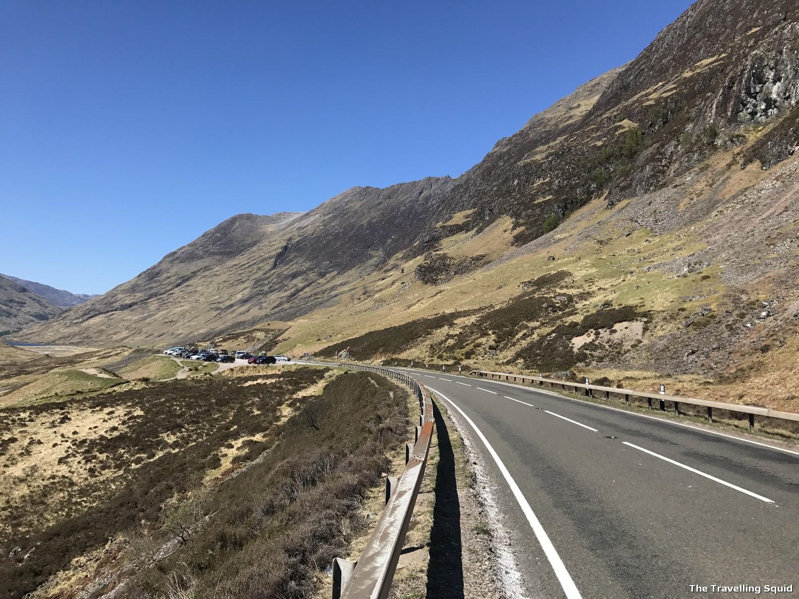 easy Glencoe hiking trail off the A82