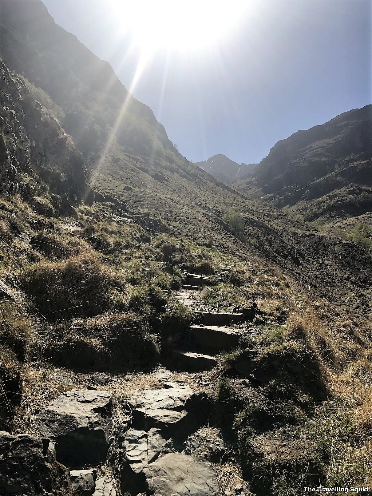 Three Sisters Hiking Trail in Glencoe nearGearr Aonach