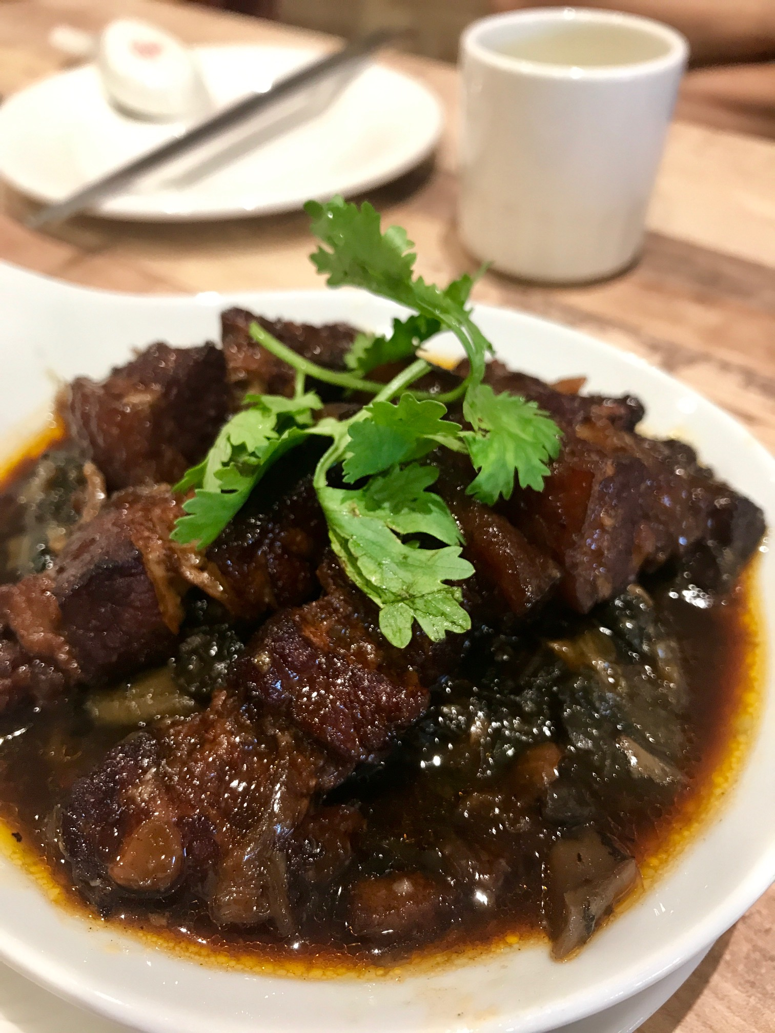 senze farrer park braised pork with mei cai