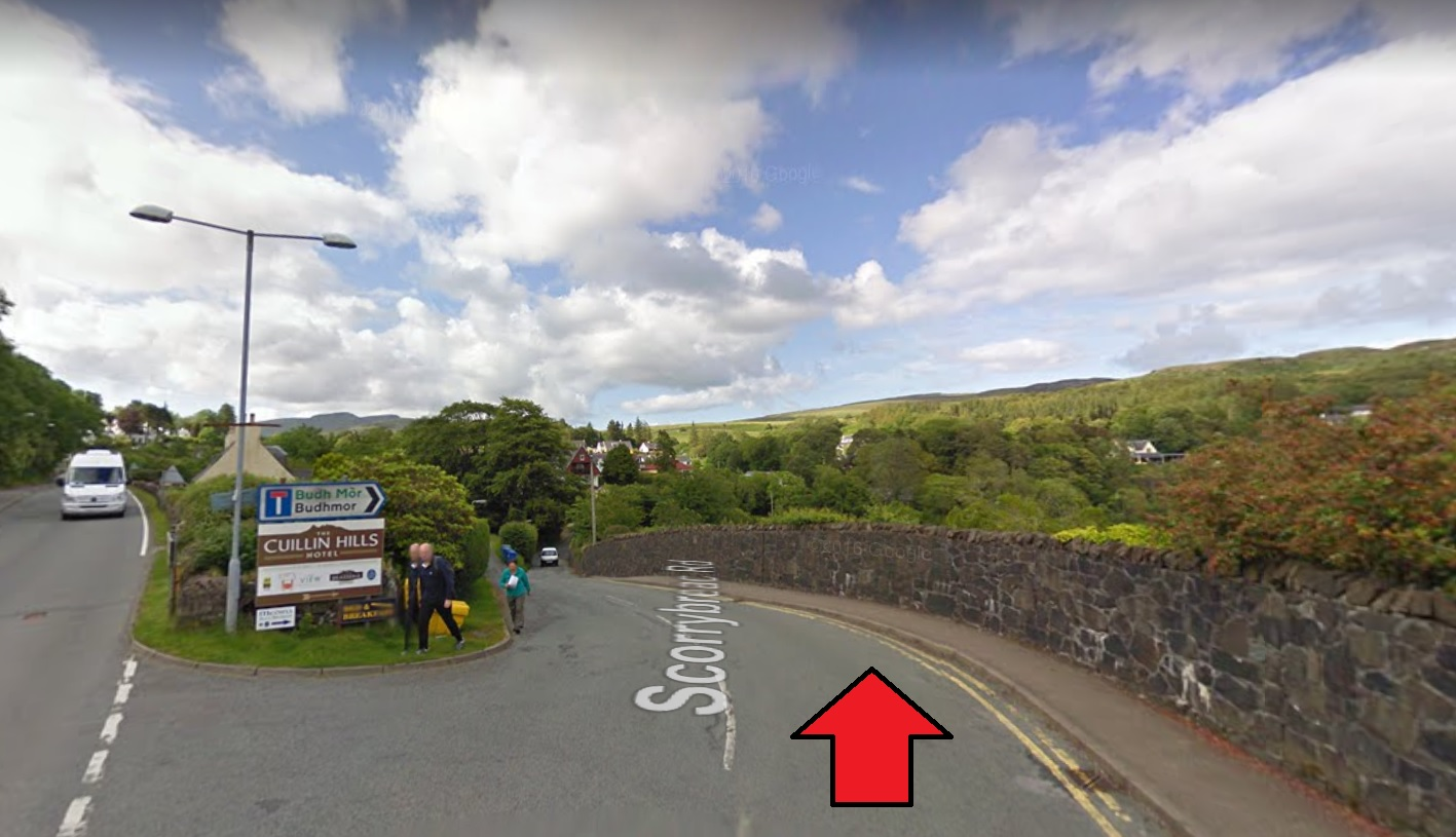 Cuilin Hills portree streetview
