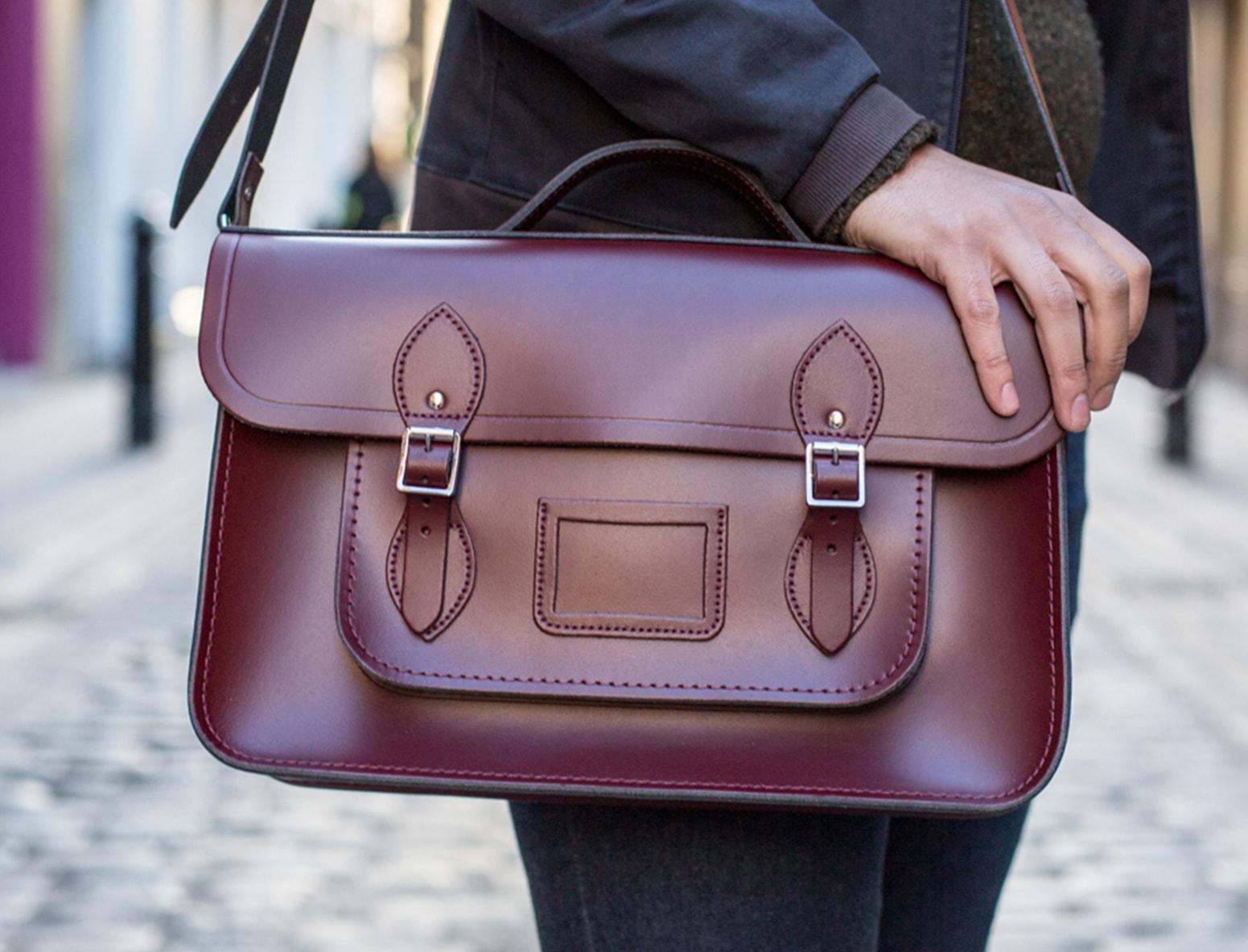 cabridge satchel brown
