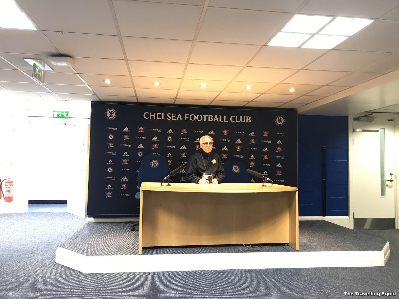 chelsea fc stamford bridge stadium tour press room