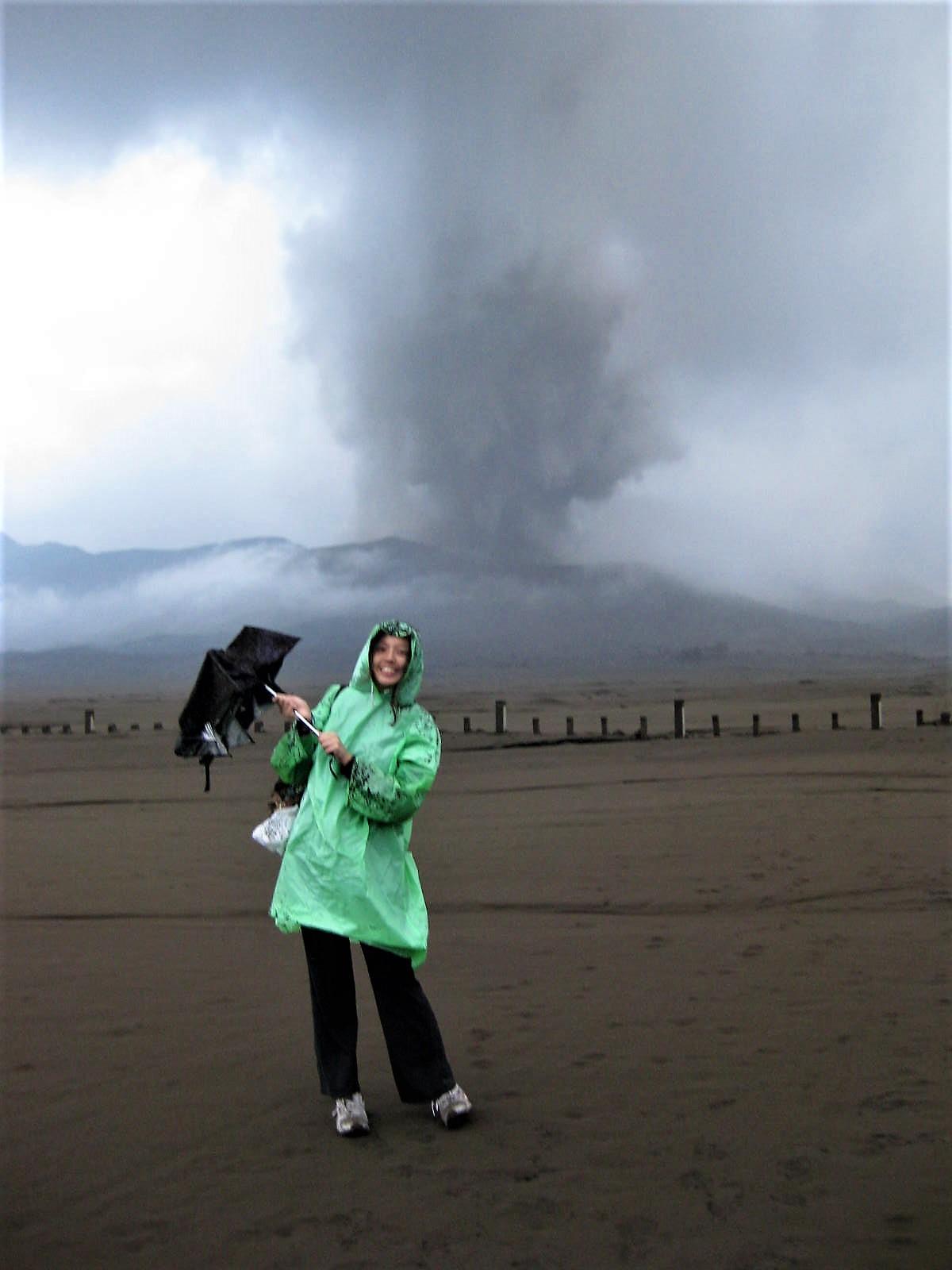 eruption of Mount Bromo in 2010