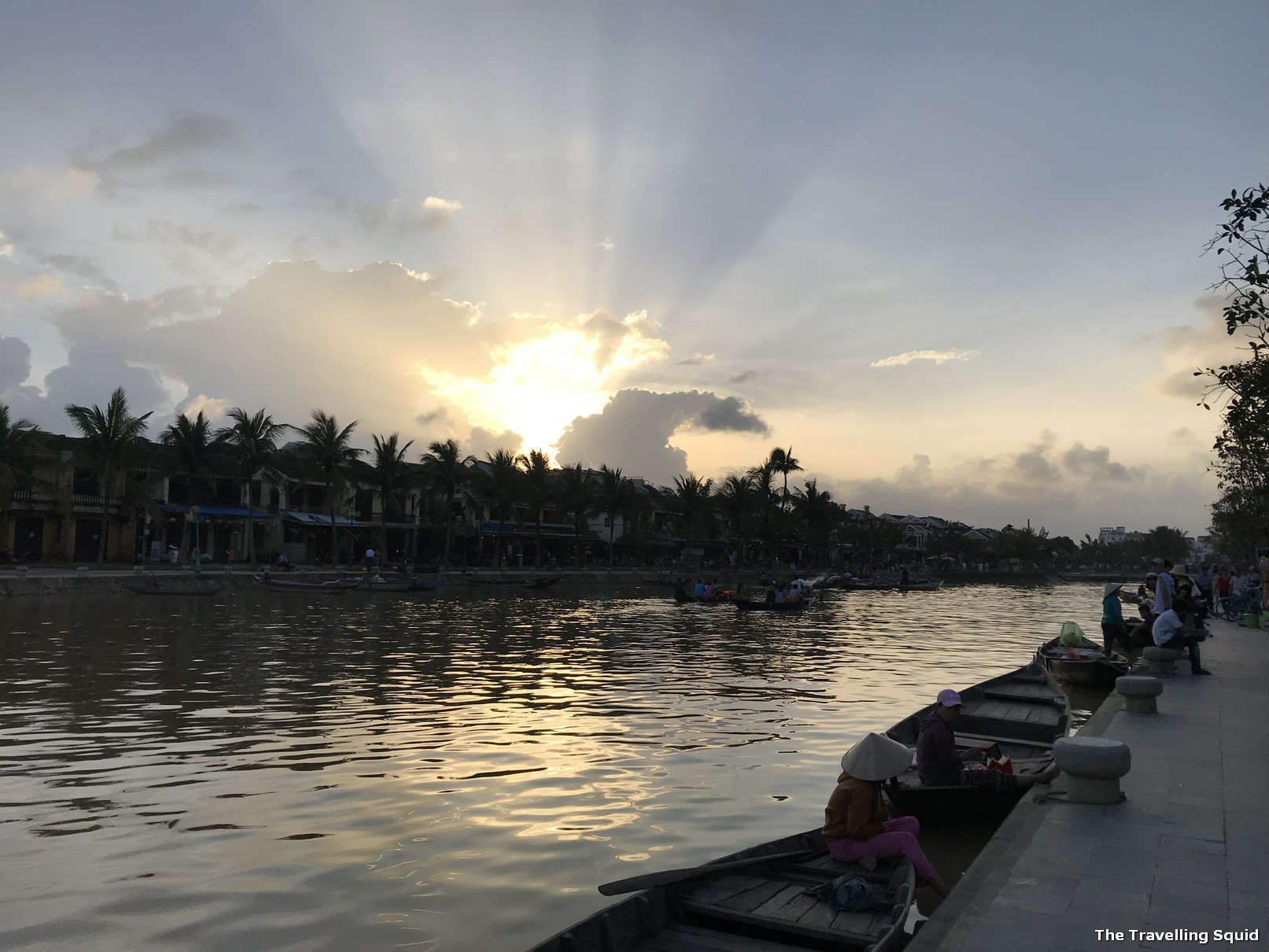 Sunset at the Thu Bon River in Hoi An