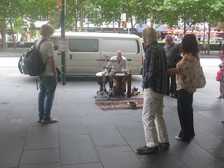 Percussion on the streets of Melbourne