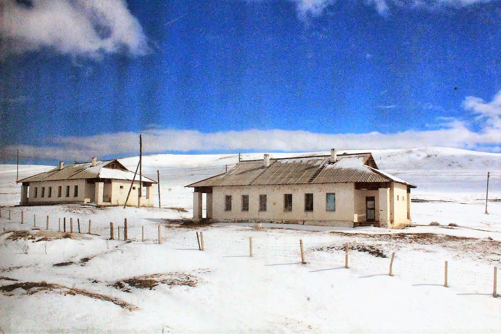 House covered in snow - Mongolia