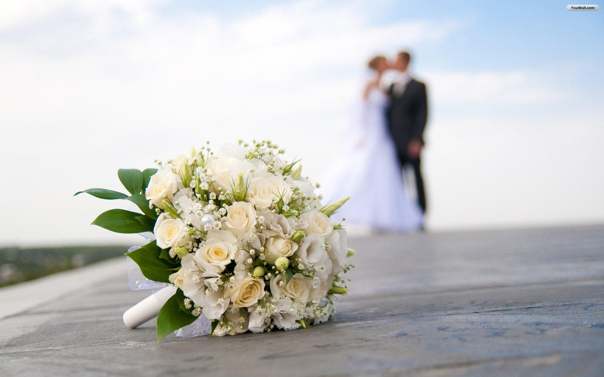 Wedding kissing