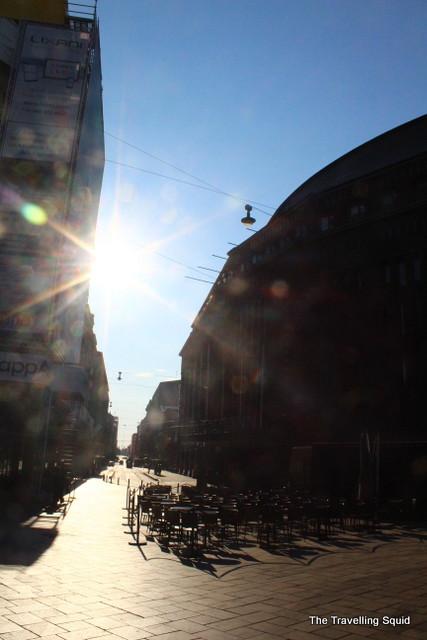 helsinki esplanade shopping street