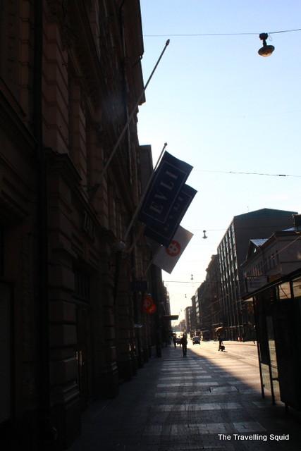 helsinki shopping street buildings